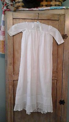 Two Vintage Childrens White Dresses With Embroidery Or Lace Trim