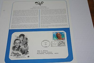 US First Day Cover ...Popular Singers...1994...Mint