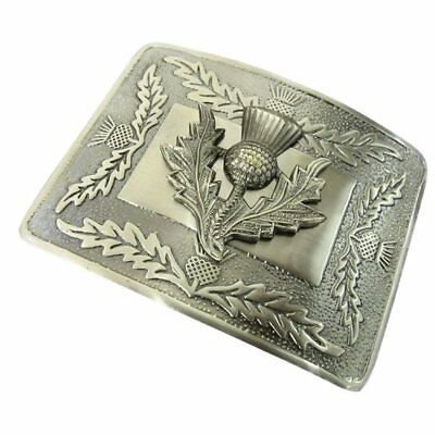 Tartanista Mens Scottish  Deluxe Thistle Kilt Belt Buckle In Antique Finish