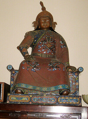 Very Rare, Magnificent 19th Century Large Japanese Cloisonne Emperor