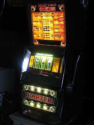 Antique Vintage Bally's Slot Machine' Buy A Pay 25 Cent Clean And In Nice Shape!