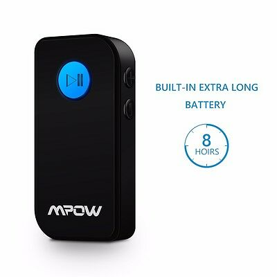 Mpow Bluetooth 4.1 Receiver Music Aduio Adapter Car Kit Hands-free Universal US