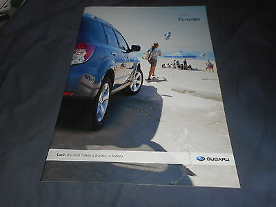 2011 Subaru Forester USA Market Color Brochure Catalog Prospekt