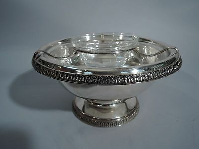 Buccellati Bowl - Classical Caviar Chip-and-Dip - Italian Sterling Silver