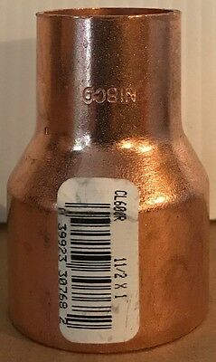 """NIBCO 1 1/2 inch x 1 inch Copper Reducer Coupling - 1 1/2"""" x 1"""" - NEW"""