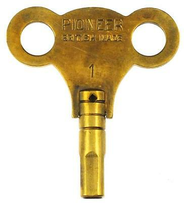 Vintage Brass Pioneer Clock Key No.1 with 2.75mm Square Hole