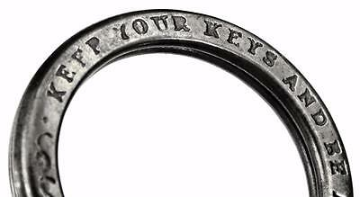Antique Key Ring - KEEP YOUR KEYS AND BE AT EASE - B&Co
