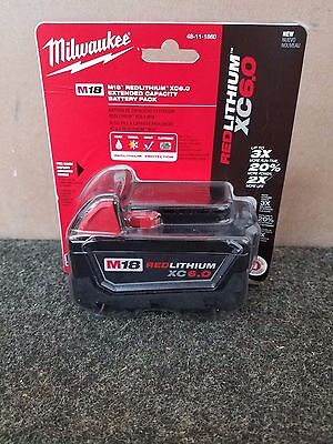 Milwaukee M18 RED LITHIUM XC 6.0 Extended Capacity Battery Pack 48-11-1860