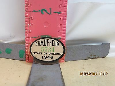 Chauffeur Pin , Oregon State , 1946 - Number 5734 , No Damage!