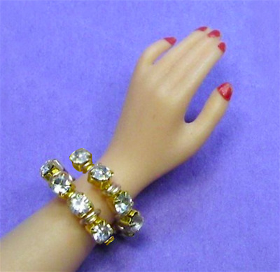 "Dreamz SNAKE BRACELET Diamond Rhinestone made for 11"" Barbie Doll Jewelry"