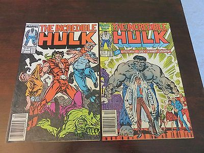 The Incredible Hulk #324 and #330 (1986/87, Marvel) VF 8.0+++