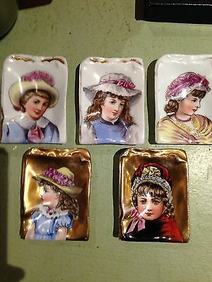 Hand Painted Victorian Butter Pats