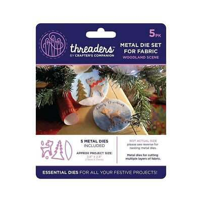 Crafters Companion Woodland Scene Threaders Fabric Die TH-MD-02