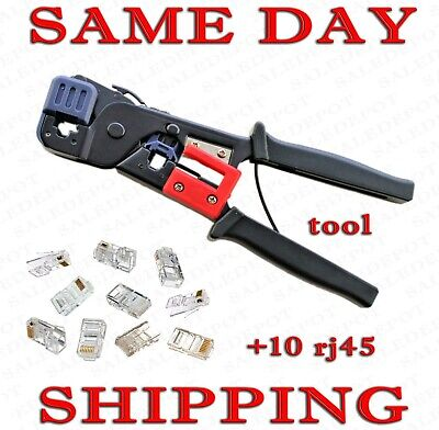 CAT5 CAT5e CAT6 Network LAN Ethernet Cable All-in-one Crimping Tool / RJ45 RJ11