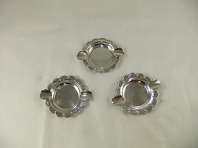Vintage Mexican Sterling Silver 925 Individual Ashtrays Set of 3