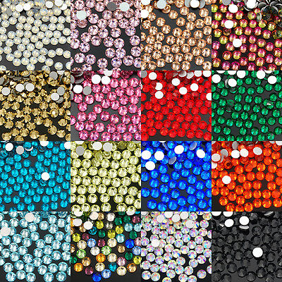 SS30 6mm 288Pcs Top Quality No Hot Fix Rhinestones Crystal Nail Art Flatback