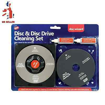 CD/DVD Disc LENS CLEANER/CLEANING SET FOR LAPTOP COMPUTER PS3 PS4 WII XBOX