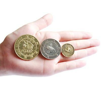 3pcs Harry Potter Replica The Gringotts Bank Coin Collection Noble Collection FW