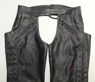 """Harley Davidson Distressed Leather Chaps Corral 97004-04Vm Mens Xl 38-43""""    120"""