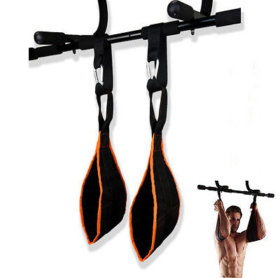 AB Sling Suspension Hanging Straps Abdominal Reverse Pull Sit Ups on Chin Up Bar