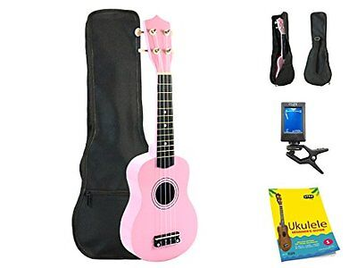 Star Soprano Ukulele 21 Inch with Bag, Tuner and Beginner's Guide, Pink