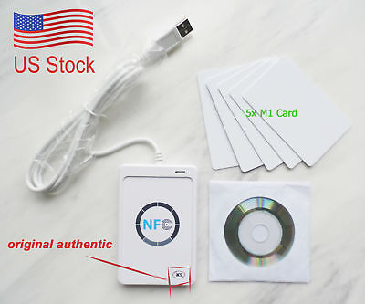 NFC ACR122U RFID Contactless smart Reader & Writer/USB + SDK+ 5×Mifare IC Card