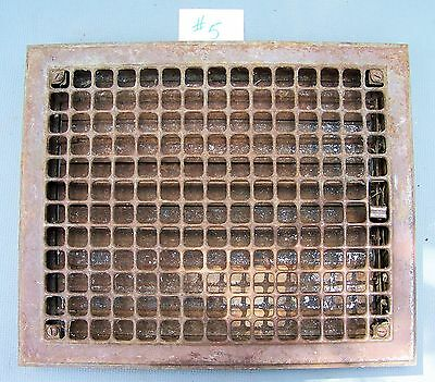 "Vintage CAST IRON Wall  Floor Register Grate Vent 17"" x 14 with louvres ******#5"