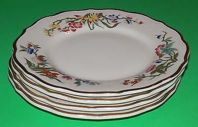 "Set/4 Syracuse China 7 1/4"" Salad Plates BOMBAY Restaurant Ware w/ Gold Stripe"