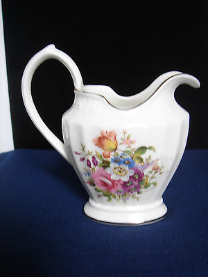 Aynsley Fine Bone China Creamer Flower Bouquet Federalist Style Made in England