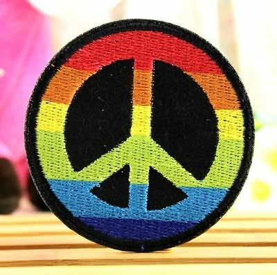 DIY Peace Peaceful Badge Applique Embroidered Sticker Sewing Patch 1pc