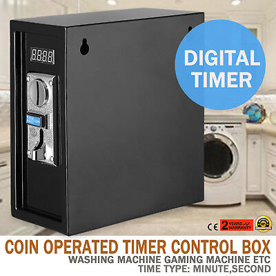 110v Coin Operated Timer Control Power Supply Box Control Automatic Black