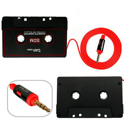 Car 3.5mm Audio Jack Aux Tape Cassette Adapter For iPhone iPod MP3 Mp4 CD Radio
