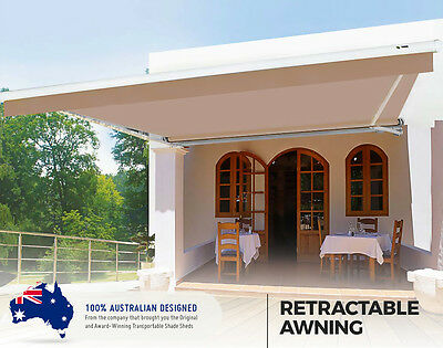 Stylish Retractable Awning over the deck, veranda, cafe, pool area and courtyard