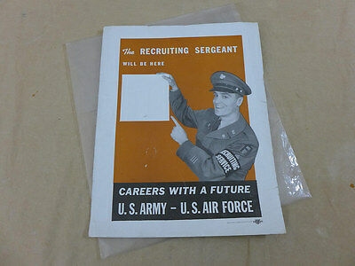 US ARMY Recruiting Service Sergeant Plakat Anwerbungsplakat Careers with future