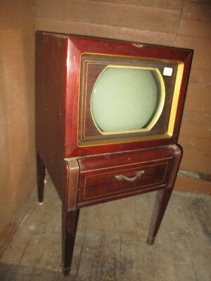 Alte Philco Fernseh Model 50-T1443 Originalzustand, komplett -  Old Philco TV