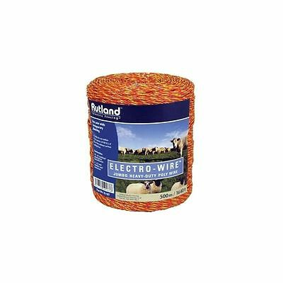 Rutland electric fence poly wire heavy duty 250m 500m horses cattle ORANGE