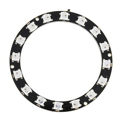 New 1X 5050 16-Bit RGB LED Ring WS2812 Round Decoration Bulb For Arduino lot ZT