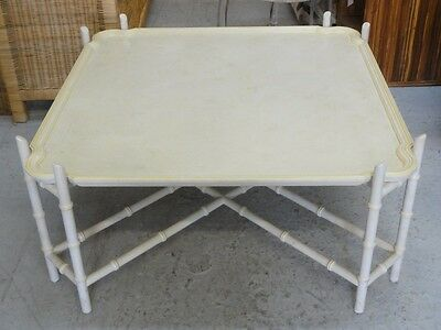 Faux Bamboo Tray Top Coffee Table Palm Beach Regency