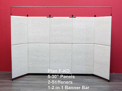 Used portable Art Wall Panel Trade Show Booth 5 walls 8' x 30""