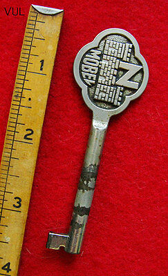 Unusual Vintage or Antique Skeleton Key w/ Castle Nobel Bow - More Old Keys Here