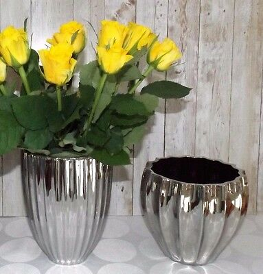 vase blumenvase topf blumentopf bertopf tischvase silber. Black Bedroom Furniture Sets. Home Design Ideas