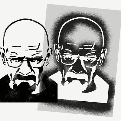 Breaking Bad Stencil Walter White Heisenberg Art Craft decor painting Stencils