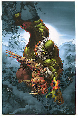 Old Man Logan 25 2nd Print Virgin Variant Mike Deodato Hulk Wolverine LTD 600