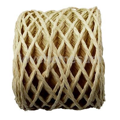 30 Meters Yellow Raffia Paper Ribbon Rope Cords for Gift Wrap String Crafts