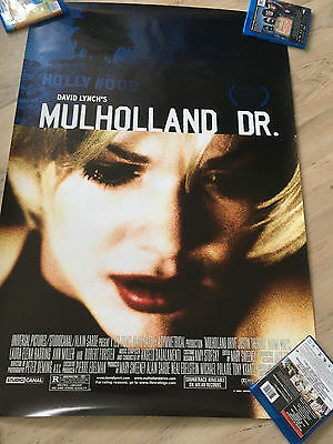Mulholland Drive original theatrical poster, version B, 27x40, one-sided