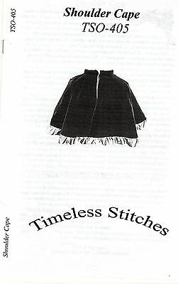 Civil War Style SHOULDER CAPE Simple Short Cape Pattern Timeless Stitches TSA405