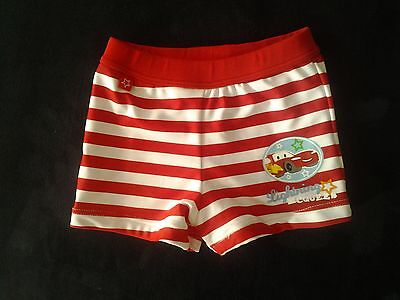 "DISNEY - Maillot de bain rouge ""Cars"" 9 mois comme NEUF -PORT OFFERT SS COND°"