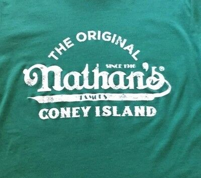 New Nathan's Famous Hot Dogs Coney Island  T Shirt  Large Sunglasses & Back Pack