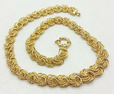 Qvc Designer Italy Gold Vermeil Link Sterling Silver 925 Necklace