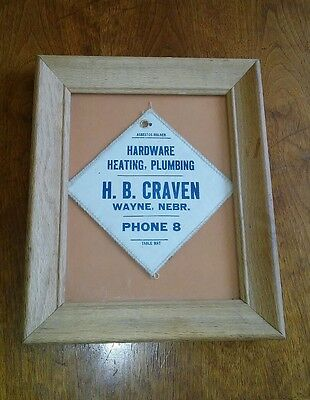 Antique H.B Craven Hardware Heating Plumbing Wayne Neb Asbestos Holder Table Mat